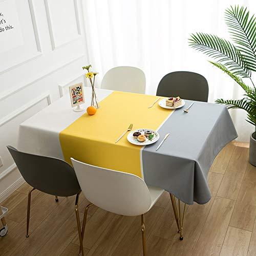 Axwadf Rechthoek Tafelkleed Wasbaar Tafelhoes, Rimpelvrij, Oliebestendig Waterdicht Tafelblad Beschermer voor Keuken Eetpartij