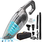 PHIAKLE Handheld Vacuum Cleaner, 120W 7Kpa Powerful Suction Car Vacuum Cordless with Rechargeable Quick Charge Hand Vacuum for Home and Car Cleaning, 2 HEPA Filters Wet & Dry