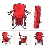 CFR-Chair Camping Stuhl, Outdoor Handlauf Strand Klappstuhl Angeln Stuhl, Rückenlehne Stuhl mit Gurt Rad mit Eisbeutel, Camping, Abendessen, Grill, Reise