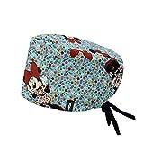 Robin Hat gorro quirofano Pretty Minnie - Estampado - Gorro de Quirófano ROBIN HAT - Pelo Largo - Ajustable - 100% algodón (Autoclave)