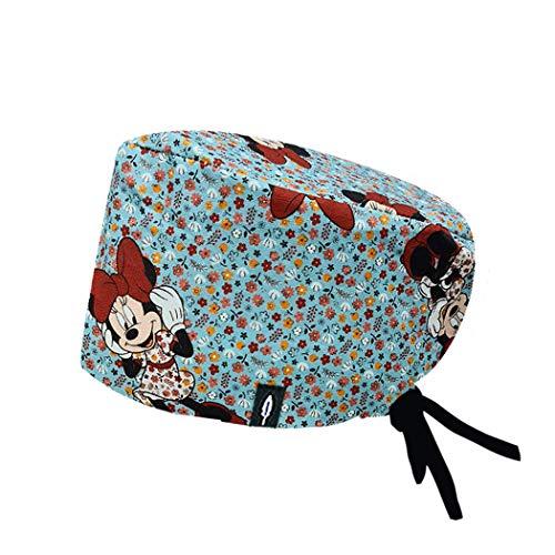 ROBIN HAT - Cuffie da sala Operatoria Pretty Minnie - CAPELLI LUNGHI - 100% cotone (Autoclave) - Massima comodità