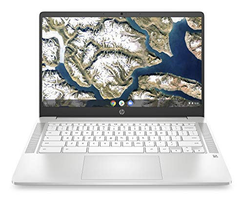 HP Chromebook 14-inch HD Laptop, Intel Celeron N4000, 4 GB RAM, 32 GB eMMC, Chrome (14a-na0020nr, Ceramic White)