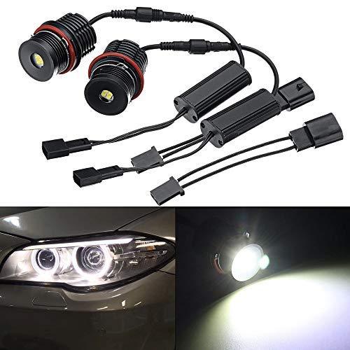 HSUN E39 Angel Eyes LED marker ampoule pour BMW, 40W CREE XM-L puce haute puissance 5000LM ampoules avec Canbus, 6000K blanc, paquet de 2, 6000K blanc