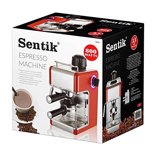 Sentik® Professional Espresso Cappuccino Coffee Maker Machine Home - Office (Red)