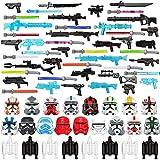 PROTOY Juego de armas militares, 71 piezas de armas de juguete militares, juego de armas para soldados, minifiguras, compatible con Lego Star Wars