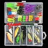 BrilliantDay Señuelos Pesca Set Kits de Señuelos Pesca Accesorios Cebos Artificiales para Agua Salada y Agua Dulce con Caja#1