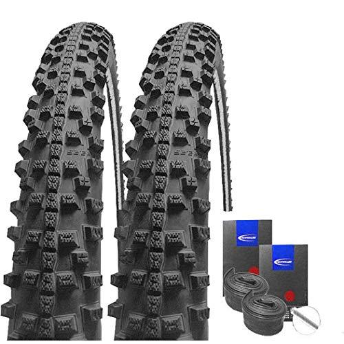 Set: 2 x Schwalbe Smart Sam Reflex Trekking Cross Reifen 44-622 / 28x1.65 + Schwalbe SCHLÄUCHE Autoventil