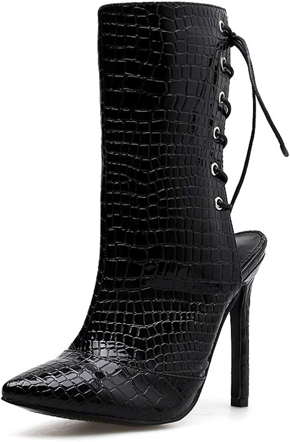 FengJingYuan Women's Boots, Stilettos, Autumn and Winter, Pointed shoes, Martin Boots