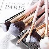 15pcs Maquillaje de la Fundación del cepillo del sistema de resaltado Powder Blush Brocha prima de ojos cepillo rosado profesional aycpg