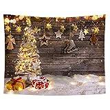 Athyior Navidad Mandala Tapices Tapiz Hippie Santa Claus Arbol de Navidad Tapices Decoración de Pared Dormitorio Habitación 130x150cm