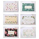 48 tarjetas de felicitación surtidas en 8 colores, perfectas para cumpleaños, fiestas de bebé, graduación y tarjetas de agradecimiento de boda, y todas las ocasiones (con sobres y pegatinas).