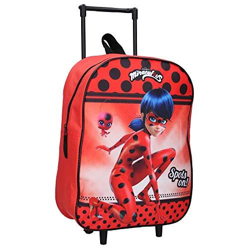 Miraculous Valise à roulettes pour Enfants - Ladybug - Rouge