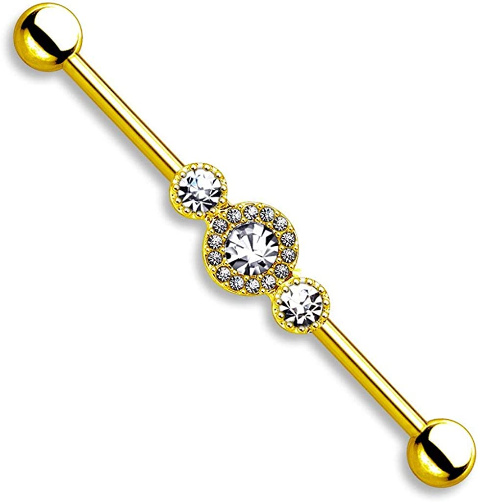 National products Forbidden Body Jewelry 14g 1.5 Steel Super low-pricing Surgical Inch 38mm
