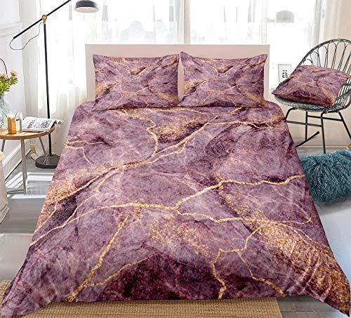 Prinbag Juego de Cama de Arena movediza, Funda nórdica roja púrpura, Conjunto de Microfibra, Textiles para el hogar, decoración de Dormitorio para niños y Adultos 135x200cm