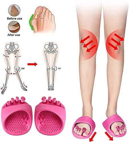 ASDF Womens Comfy Platform Correction Sandalen Bunion Hausschuhe mit offenen Zehen Schiene Hallux Valgus Orthopädische Flip Flops Korrektor O-Beine/X-Beine Straffender Becken-Schlankheitsschuh,X/Legs