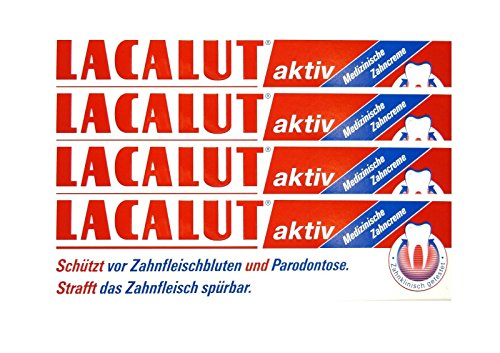 4x LACALUT aktiv Zahncreme 100 ml PZN 5484132 Parodontose Zahnfleischbluten