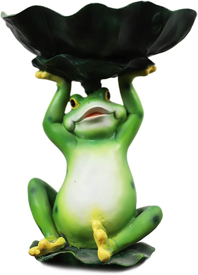 SDBRKYH Frog Product Bird Feeder Outdoor S Same day shipping Sculpture Garden