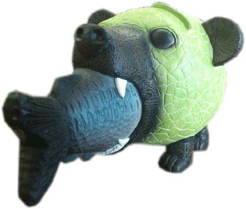 メロン熊 貯金箱 ( 鮭 バージョン )