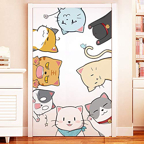不二玩家 ウォールステッカー 子供 風船 猫 動物 特大サイズ ドア おしゃれ モダン アート 北欧 インテリア ポスター ステッカー シール式ステッカー 飾り ウォールデコ ウォールペーパー ウォール 装飾 M0378