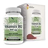 Vitamina B12 Cobalamina 500µg di VITA1 • 60 losanghe (fornitura per 2 mesi) • miglior assorbimento attraverso la mucosa orale • Fatto in Germania