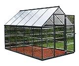 Palram Aluminium GewächsHaus Gartenhaus Hybrid 6x10 anthrazit /310x185x209 cm (LxBxH),Grau