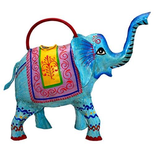 Gießkanne Tier Gartendeko Metall Blech Deko Giesskanne Bunt Handbemalt (Auswahl) - Gall & Zick (Elefant)