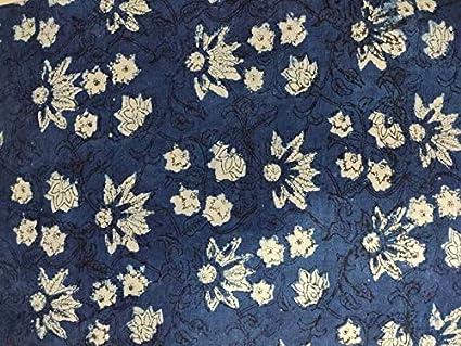 ndian handblock print Fabric Cotton Multi Floral Jaipuri Fabric Indian Handmade Flower Print Cotton Hand Block Dress Making Fabric