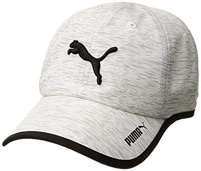 PUMA Women's Evercat Running Cap, deep White/Black, OS