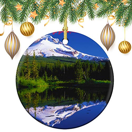 Christmas Ornaments, Mount Hood Oregon Ornament Tree Hanging Decor Gift For Families Friends,3 Inch