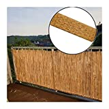 GDMING Natural Garden Fence Screening Reed Roll Decorative Windscreen Privacy Fencing Border Wind & Sun Protection Outdoor Panel, 18 Sizes (Color : A, Size : 120X500CM)