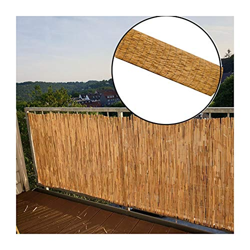 GDMING Natural Garden Fence Screening Reed Roll Decorative Windscreen Privacy Fencing Border Wind & Sun Protection Outdoor Panel, 18 Sizes (Color : A, Size : 100X500CM)