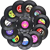 Funny Coasters for Drinks | Set of 12 Vinyl Records Disk Music Lover Drink Coaster Conversation |...