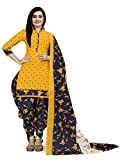 Rajnandini Women's Cotton Unstitched Salwar Suit (JOPLVSM4002J_Yellow_Free Size)