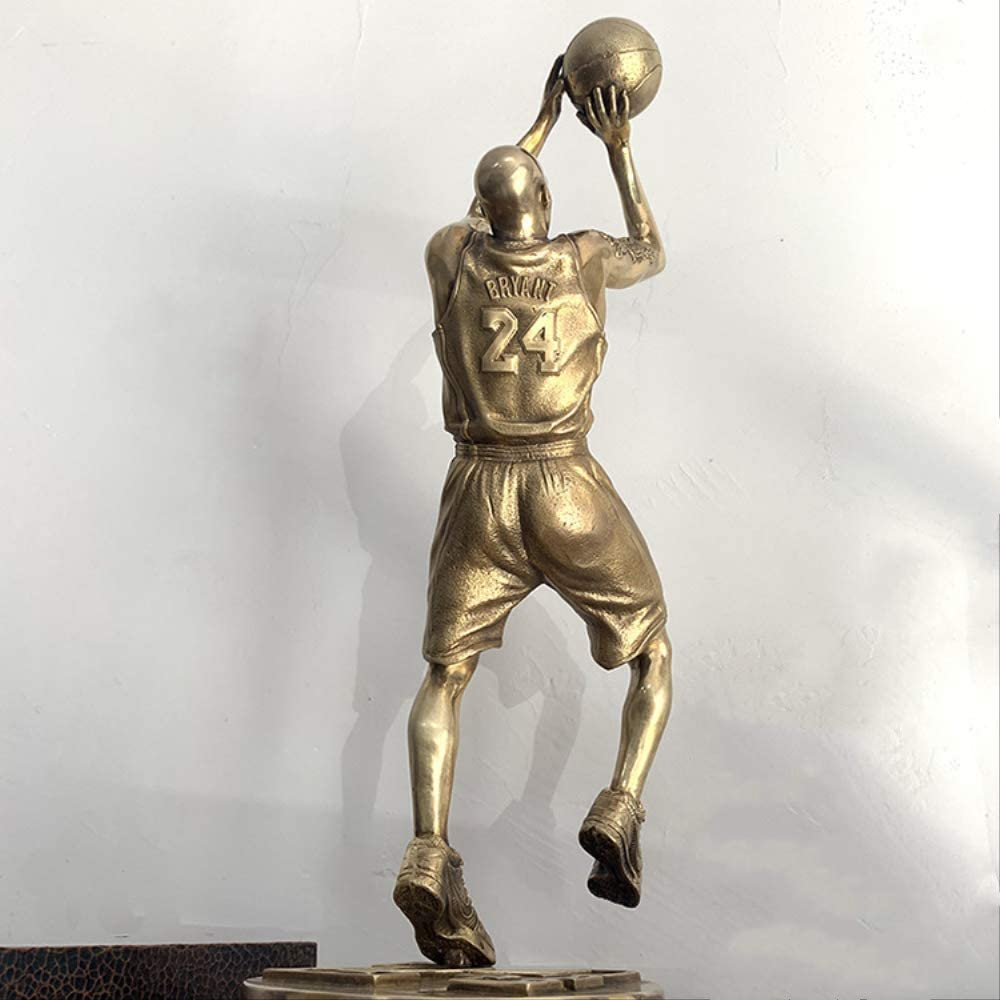 SUPERHUA Pure Copper Shipping NEW included Basketball Star Ornam Model Bryant Tabletop