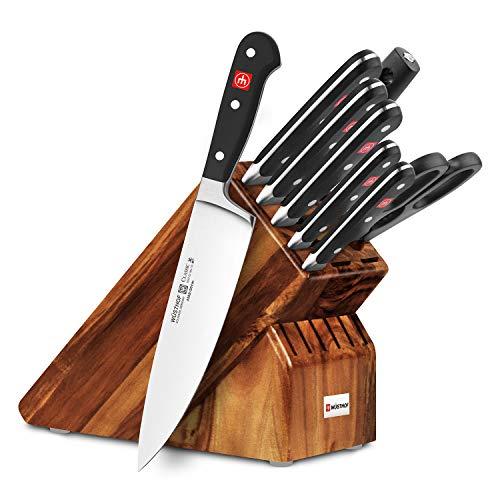 Wusthof Classic 9-piece Acacia Knife Block Set