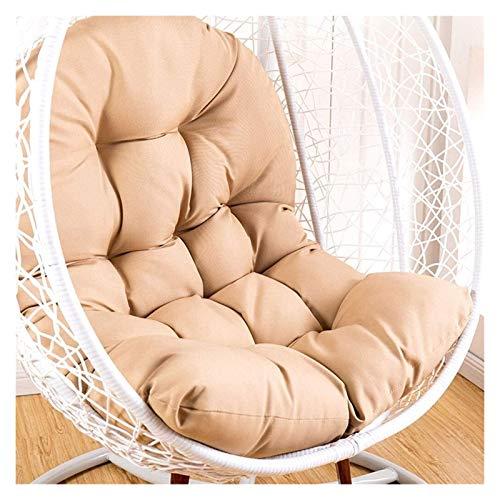 HLZY - Cojines para sillas de patio y sillas colgantes para sillas de jardín, hamaca de huevo, cojín para silla columpio para interiores y exteriores (color: caqui)