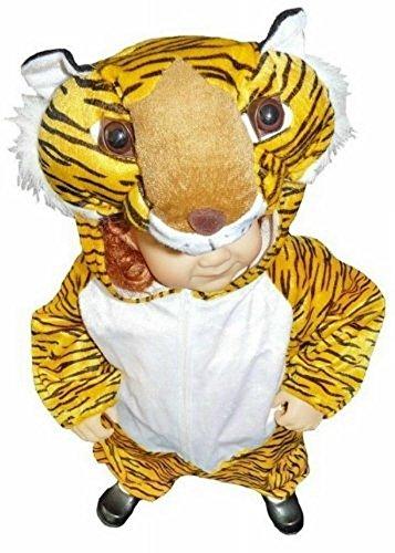 Ikumaal An28 Taglia 2-3A (92-98cm) Costume da Tigre per Bambini e Neonati, indossabile Comodamente sui Vestiti Normali