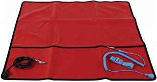 """Velleman AS9 Anti-Static Field Service Kit (Red) - Portable anti-static work surface - 24""""x24"""""""