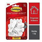 Command - Ganchos pequeños y tiras adhesivas para colgar