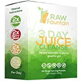3 Day Juice Cleanse Detox, 24 Powder Packets, Travel and Vegan Friendly, Weight Loss Program, All Natural, Includes Protein (3 Day)