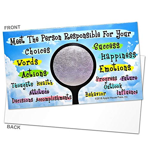 Inspirational Cards - Meet The Person Responsible for your success, choices, words, actions, happiness - Encouragement, Kindness, Motivational Cards for Teachers, Employers, Friends, CoWorkers, Family