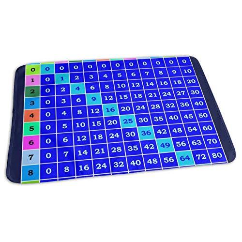 Multiplicatie Tafel Sjabloon Baby Herbruikbare Veranderende Pad Cover Draagbare Reizen Veranderende Mat 27.5x19.7 inch