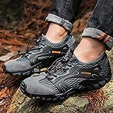 ZZ Chaussures De Randonnée Camping Montagne Homme Chaussures d'eau Chaussures De Randonnée Outdoor Grande Taille 50 Chaussures De Course sur Sentier Chaussures De Sport en Mesh Respirant,Gray-50