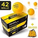 DIEKER SPORTS Balles de Tennis de Table 3 Etoiles de [36 Balles + Sac + Cours Vidéo] - Balle de Tennis de Ping-pong aux Normes ITTF - Balles de Ping Pong Parfaites pour Débutants et Professionnels