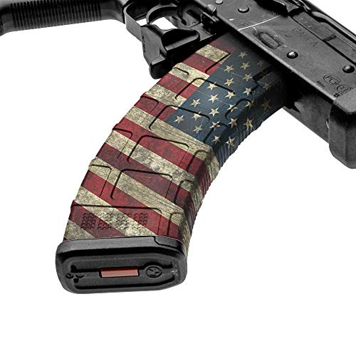 GunSkins AK-47 Mag Skin - Premium Vinyl Mag Wrap with Precut Pieces - Easy to Install and Fits 30rd Magazines - 100% Waterproof Non-Reflective Matte Finish - Made in USA - GS America