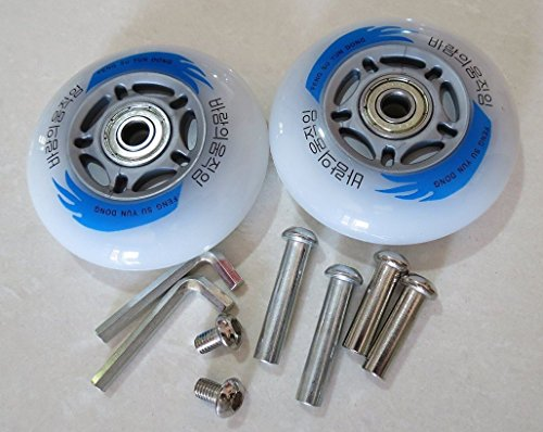 EampL Razor Scooters Replacement Wheels Set of 2X Caster Board Replacement Wheels with Illuminating Lights Packaged with Our own Designed Bag @ Eric amp Leon Logo 80 X 24 mm