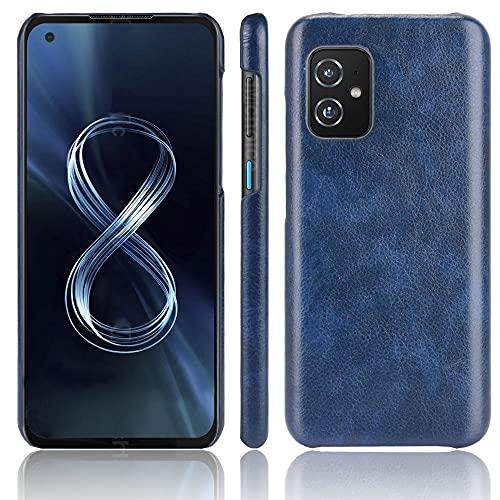 Coque Funda ASUS Zenfone ZS590KS,Textura de Lichi Carcasa de telefono para ASUS Zenfone ZS590KS(Azul)