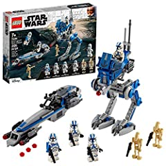 Kids can role-play as 501st Legion Clone Troopers and relive exciting action from Star Wars: The Clone Wars with this LEGO Star Wars action set (75280), featuring an AT-RT Walker and BARC Speeder This LEGO Star Wars building kit includes 4 LEGO minif...
