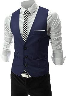 blue suit with white vest