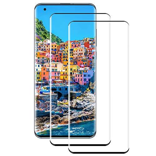 PUUDUU Cristal Templado para Xiaomi Mi 10 10 Pro, [2 Piezas] Cobertura Completa, Resistente a Los Arañazos, Sin Burbujas, Película Protectora de Vidrio Templado para Xiaomi Mi 10 10 Pro